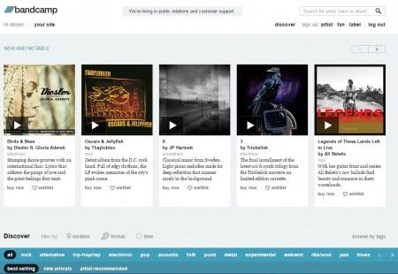 Diesler Bandcamp Homepage